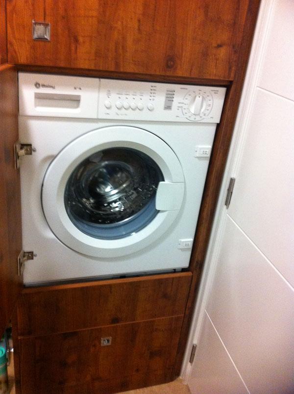 Soluciones de espacio muebles yuste for Ocultar lavadora